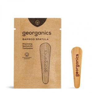 spatula lemn pasta de dinti georganics